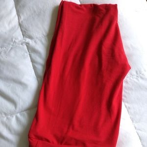 New lularoe os solid red stretchy leggings